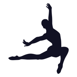 Man exercise gymnast silhouette