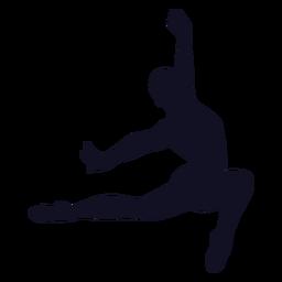 Silueta de gimnasta de ejercicio de hombre