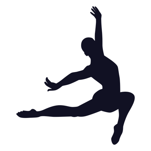 Man exercise gymnast silhouette Transparent PNG
