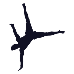 Man gymnast exercise silhouette