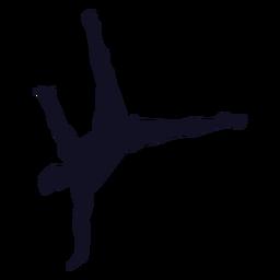 Silueta de ejercicio de gimnasta de hombre