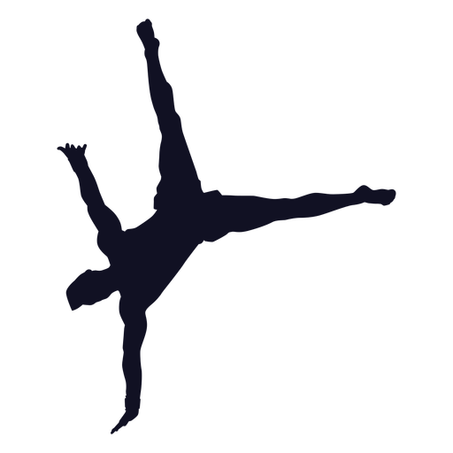 Man gymnast exercise silhouette Transparent PNG