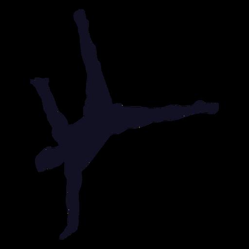 Man gymnast exercise silhouette