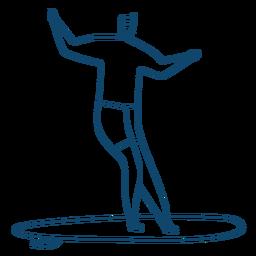 Hombre trazo de tabla de surf
