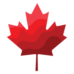 Maple leaf badge sticker