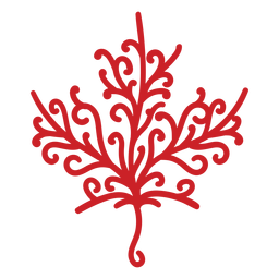 Maple leaf detailed silhouette