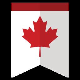 Maple leaf flag badge sticker