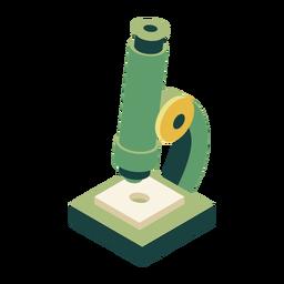 Microscopio óptico de aumento plano.