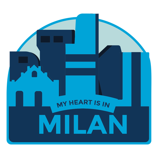Milán, mi corazón está en Milán Transparent PNG