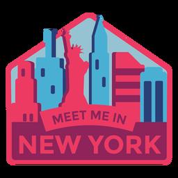 New york meet me in new york estátua da liberdade adesivo