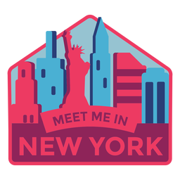 New york meet me in new york statue of liberty sticker