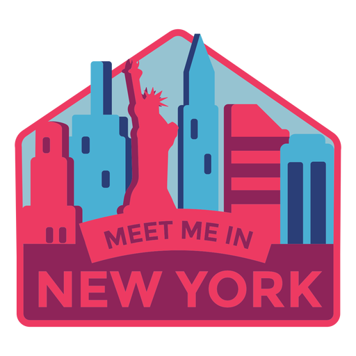 New york meet me in new york statue of liberty sticker Transparent PNG