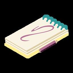 Cuaderno agenda diario cuaderno lápiz plano