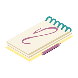 Notizbuch Datebook Tagebuch Copybook Bleistift flach