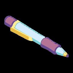 Caneta de tinta ampola ampola plana