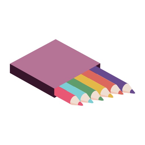 Caixa de lápis cor cor plana Transparent PNG