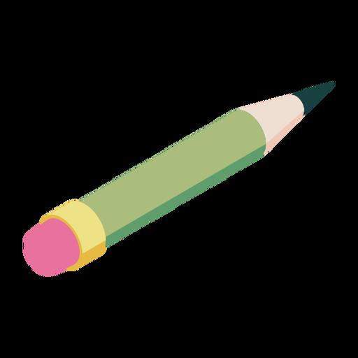 Pencil eraser slate pencil flat Transparent PNG