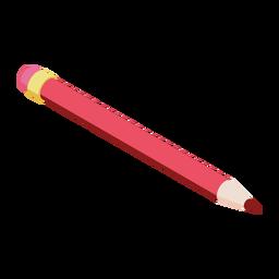 Bleistift roter Radiergummi Schiefer Bleistift flach