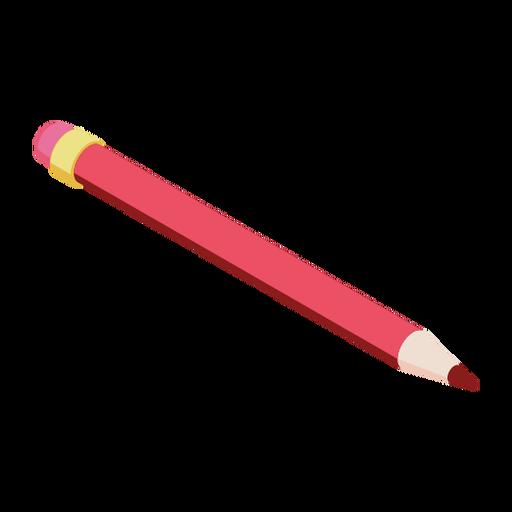 Pencil red eraser slate pencil flat