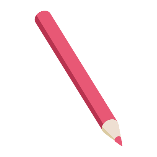 Pencil red slate pencil flat