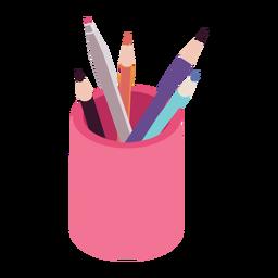 Caneta de ponta macia lápis plana
