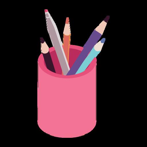 Pencil soft tip pen pot flat