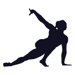 Silhueta de ginasta mulher exercício de postura