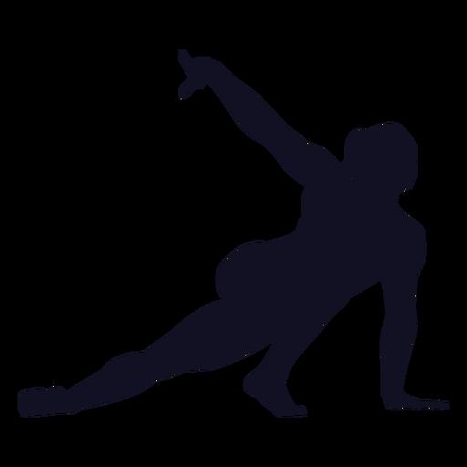 Postura ejercicio mujer gimnasta silueta