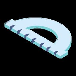 Regla del transportador centímetro plana