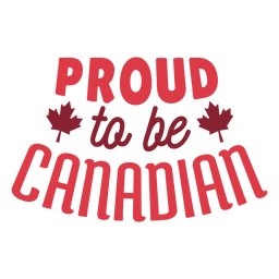 Proud to be canadian leaf maple badge sticker