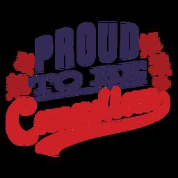 Orgulloso de ser la insignia de la hoja de arce canadiense