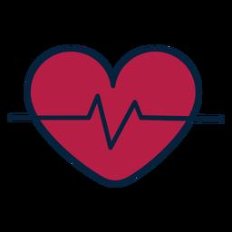 Puls Herz Abzeichen Aufkleber