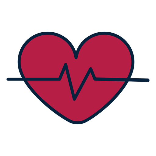 Etiqueta engomada de la insignia del corazón del pulso Transparent PNG