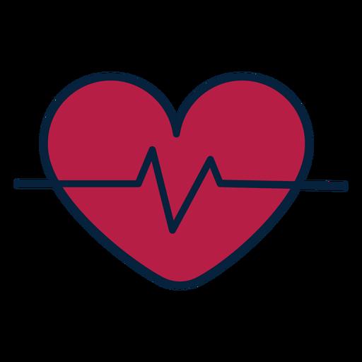 Etiqueta engomada de la insignia del corazón del pulso