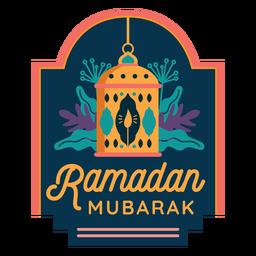 Etiqueta engomada de la insignia de la luz de la linterna de la lámpara de la vela de Ramadán Mubarak