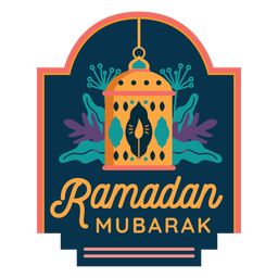 Ramadan mubarak candle lamp lantern light badge sticker