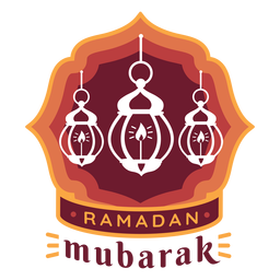 Ramadan mubarak candle lamp light badge sticker