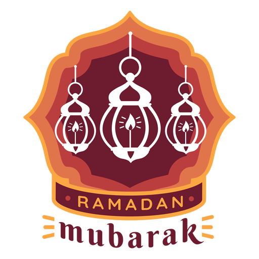 Ramadan mubarak candle lamp light badge sticker Transparent PNG
