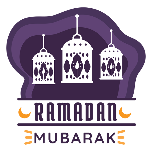 Ramadan mubarak candle lamp light lantern badge sticker Transparent PNG