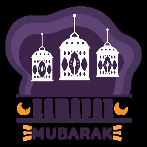 Ramadan Mubarak Kerzenlampe Licht Laterne Abzeichen Aufkleber Transparent PNG