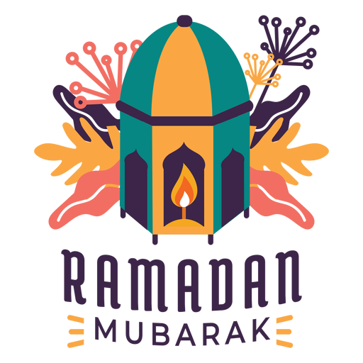 Ramadan mubarak candle lantern lamp light badge sticker Transparent PNG