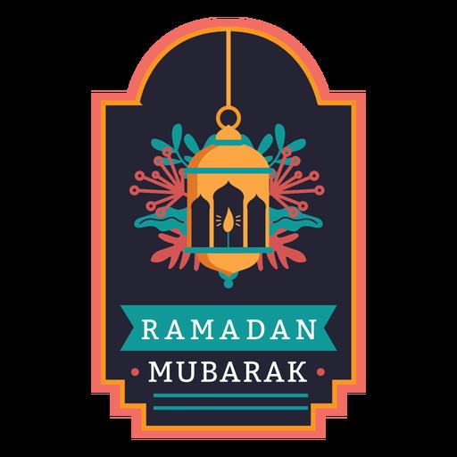 Ramadan mubarak candle light lamp badge sticker Transparent PNG