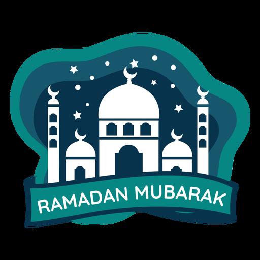 Ramadan mubarak crescent half moon mosque sticker badge Transparent PNG