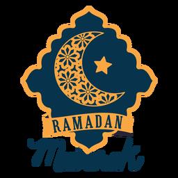 Emblema adesivo de estrela de meia lua crescente de Ramadan mubarak
