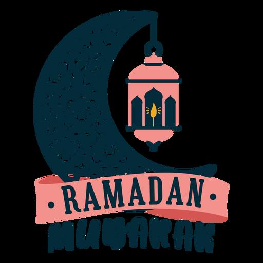 Ramadan mubarak crescent lamp light candle sticker badge Transparent PNG