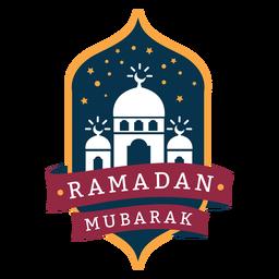 Ramadán Mubarak insignia de la mezquita creciente