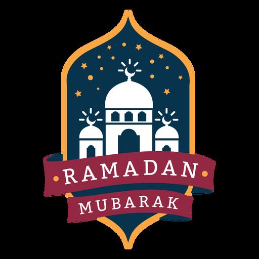 Ramadan mubarak crescent mosque badge sticker Transparent PNG