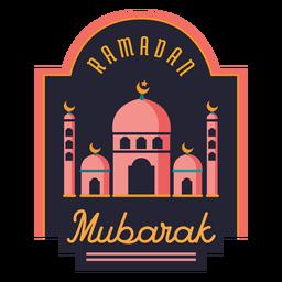 Halbmond-Abzeichenaufkleber der Ramadan Mubarak sichelförmigen Moschee