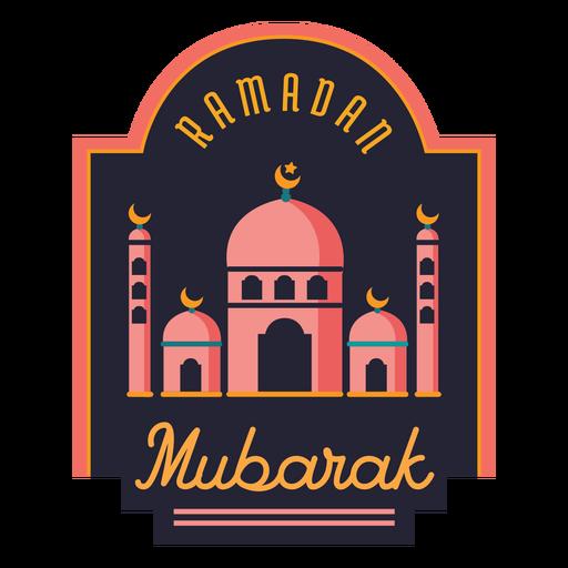Ramadan mubarak crescent mosque half moon badge sticker Transparent PNG