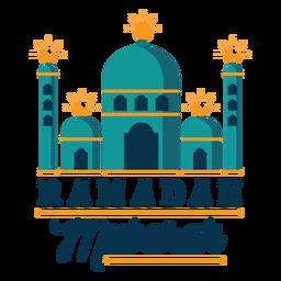 Ramadan mubarak crescente mesquita meia lua adesivo distintivo